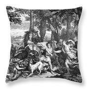 Atalanta And Meleager Throw Pillow