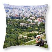 Athens Greece Throw Pillow