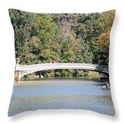 Bow Bridge Throw Pillow