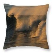 Breaking Surf At Sunset In La Jolla Throw Pillow