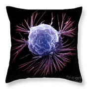 Breast Cancer Cell Throw Pillow