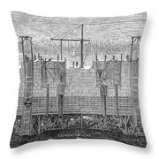 Brooklyn Bridge, 1870 Throw Pillow