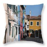Burano Island. Venice Throw Pillow
