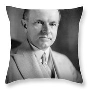 Calvin Coolidge (1872-1933) Throw Pillow