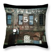5 Cent Market Throw Pillow