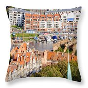 City Of Gdansk In Poland Throw Pillow