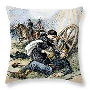 Clara Barton (1821-1912) Throw Pillow