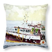 5 Di Pomeriggio A Guilvinec Throw Pillow