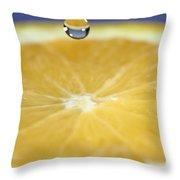 Drip Over An Orange Throw Pillow
