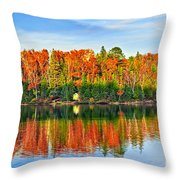 Fall Forest Reflections Throw Pillow