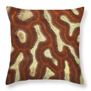 Fluorescent Coral In White Light Throw Pillow