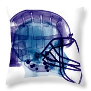 Football Helmet, X-ray Throw Pillow