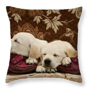 Goldidor Retriever Puppies Throw Pillow