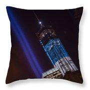 Ground Zero Freedom Tower Throw Pillow