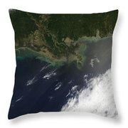 Gulf Oil Spill, April 2010 Throw Pillow