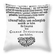 Hans Von Grimmelshausen Throw Pillow