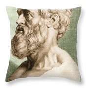 Hippocrates, Greek Physician Throw Pillow