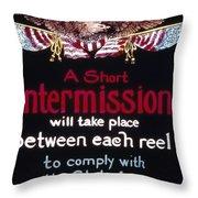 Intermission Slide Throw Pillow