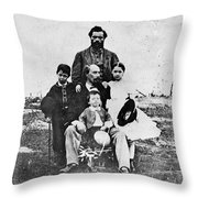 Jefferson Davis (1808-1889) Throw Pillow