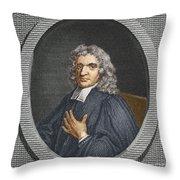 John Flamsteed, English Astronomer Throw Pillow