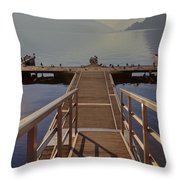 Lago Di Lugano Throw Pillow