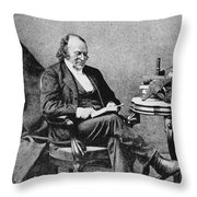 Louis Agassiz, Swiss-american Polymath Throw Pillow
