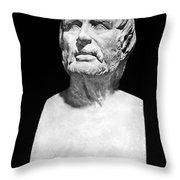 Lucius Annaeus Seneca Throw Pillow