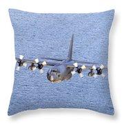 Mc-130p Combat Shadow In Flight Throw Pillow