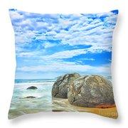 Moeraki Boulders Throw Pillow