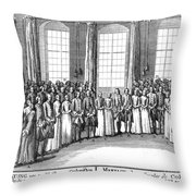 Moravians, 1757 Throw Pillow