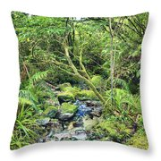 Native Bush Throw Pillow by MotHaiBaPhoto Prints