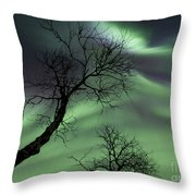 Northern Lights In The Arctic Throw Pillow