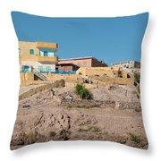 Nubians Nile Philae Throw Pillow