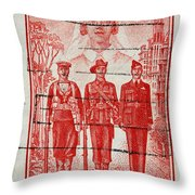 old Australian postage stamp Throw Pillow
