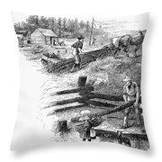 Oregon Trail Emigrants Throw Pillow