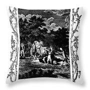 Plague Of London, 1665 Throw Pillow