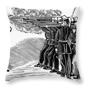 Posada: Firing Squad Throw Pillow