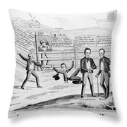 Presidential Campaign, 1844 Throw Pillow