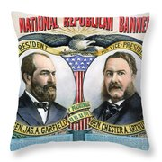 Presidential Campaign, 1880 Throw Pillow