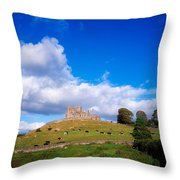 Rock Of Cashel, Co Tipperary, Ireland Throw Pillow by The Irish Image Collection