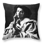 Sarah Bernhardt Throw Pillow