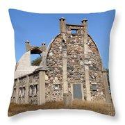 Schott Stone Barn Throw Pillow