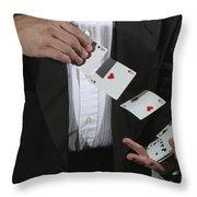 Shuffling Cards Throw Pillow