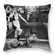 Silent Still: Bathers Throw Pillow