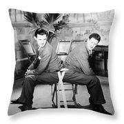 Silent Still: Two Men Throw Pillow