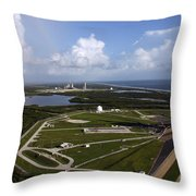 Space Shuttle Atlantis And Endeavour Throw Pillow