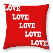5 Steps Of Love Throw Pillow