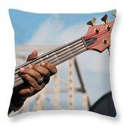 5-string Bass Throw Pillow