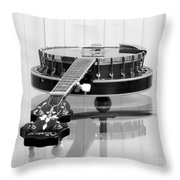5-string On Glass Throw Pillow