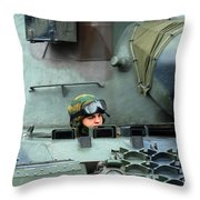 Tank Driver Of A Leopard 1a5 Mbt Throw Pillow
